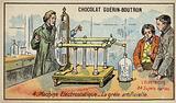 Electrostatic machine producing artificial hail