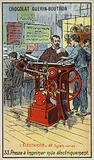 Electrically-powered printing press