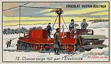 Snowplough powered by electricity