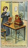 Baudot's printing telegraph