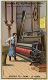 Wool industry. Weaving