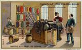 Wool industry. Combing