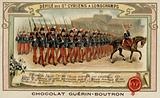 Parade of cadets from the Military School of Saint-Cyr at Longchamps, France