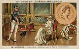 Napoleon meeting with Pope Pius VII at Fontainebleau