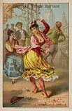 Dancing the tarantella, Italy