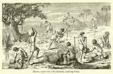 Slaves, under the 18th dynasty, making brick