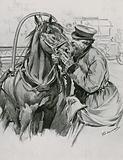 A Droshky Driver kissing his Horse Good-morning
