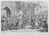 Sir John Falstaff receiving a most unexpected rebuke from King Henry the fifth