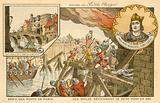 The Twelve defending the Petit Pont against the Vikings, Siege of Paris, 886