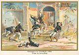 French soldiers capturing Kep, Tonkin, Sino-French War, 1884