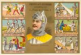 Bertrand du Guesclin, French military commander, and scenes from his life