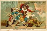 French naval commander and privateer killing an English admiral, 1694