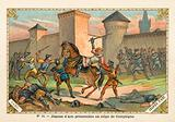 Joan of Arc taken prisoner at the Siege of Compiegne, 1430