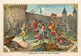 Joan of Arc wounded at the Siege of Orleans, 1429