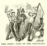 The army, tied to the triangles