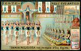 Religious dance in the Temple of Isis, Egypt