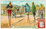 Women stilt jumpers, Korea