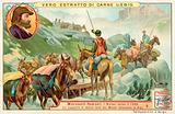 Transportation of goods made by Bartolomeus Welser across the Alps