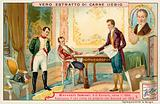 Napoleon negotiating a loan with French banker Gabriel-Julien Ouvrard, 1815