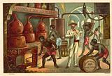 A rum distillery in Jamaica