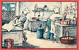 Cooks working in a kitchen