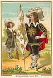 French musketeers of the time of Louis XIV
