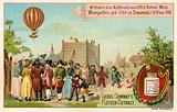 Invention of the hot air balloon by the Montgolfier Brothers, France, 1783