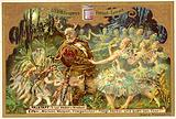 Falstaff attacked by the fairies