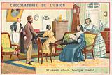 French author Alfred de Musset visiting George Sand, 19th Century