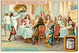 Ceremonial feast under Louis XIV of France