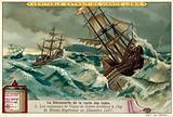 The ships of Vasco da Gama rounding the Cape of Good Hope, December 1497
