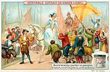 Elizabeth I of England amongst her Navy's sailors