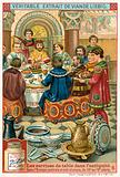Dinner in Central and Southern Europe, 10th-13th Century