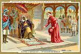 Monsignor Macaire visting Emperor Menelik II of Ethiopia, First Italo-Ethiopian War, 1895