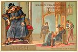 Louis XI of France being presented with the first Bible printed in France
