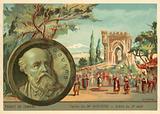 Scene from Charles Gounod's opera Le Tribut de Zamora