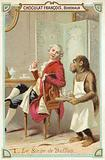 The ape of the Comte de Buffon, French naturalist