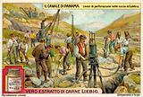 Rock drilling work in the Culebra Cut, Panama Canal