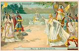 Scene from Richard Wagner's opera Lohengrin
