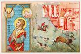 St Hubert, patron saint of hunters