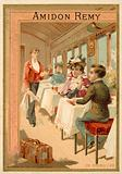 In the dining car