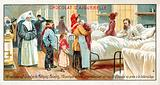 Alcoholism is the cause of multiple illnesses. An alcohloic in a hospital bed suffering …