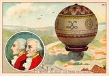 The Montgolfier Brothers first balloon ascent, 1783