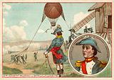 The first military balloon at the Battle of Fleurus, 1794