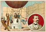 Salomon August Andree setting out for the North Pole by balloon, 1897