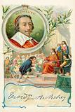Cardinal Richelieu founding the Academie Francaise, 1635