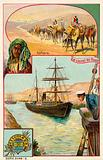 Suez Canal and Sahara Desert, Egypt