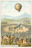 First demonstration of a hot air balloon by the Montgolfier Brothers, Annonay, France, 4 June 1783