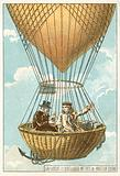 Joseph Louis Gay-Lussac and Jean-Baptiste Biot in a balloon at an altitude of 4000 metres, 1804