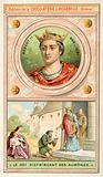 Robert II of France distributing alms